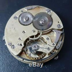 1/4 repeater antique pocket watch movement for parts or to restore