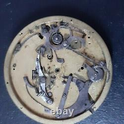 1/4 repetition antique pocket watch movement for parts or to restore