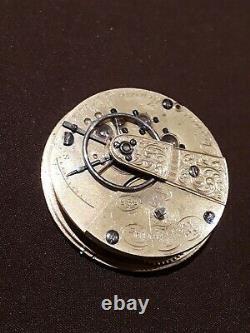 #1,585 Dennison Howard Davis MOVEMENT ONLY American Waltham early pocket watch