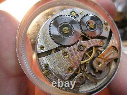 16s Waltham 17J OF LS grade 636 pocket watch movement ticking SCARCE