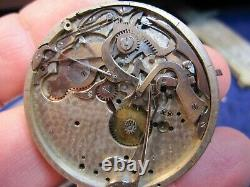 16s Waltham RARE 5 minute repeater pocket watch movement for parts