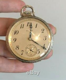 17J Howard Pocket Watch Works withPaper & Box Antique Fine 1394829 Movement