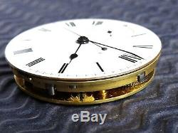 1844 Rare Complication Chrono. Button Wind, Fusee Pocket Watch Movement. Antique