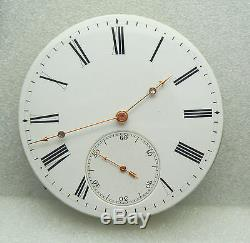 1860s Museum Piece Detent Pivot Helical Hairspring Fusee Pocket Watch Movement