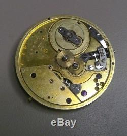 1860s PATEK PHILIPPE POCKET WATCH MOVEMENT FOR PARTS RESTORATION SIGNED PP 34mm