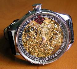 1876s Patek Philippe Pocket Watch Movement Custom Watch Engraving Full Skeleton