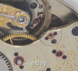 1885 A. LANGE & SOHNE GLASHUTTE high grade pocket watch movement diamond stone