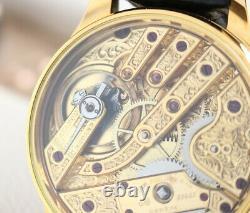 1891 Patek Philippe Pocket Watch Movement Custom Wrist Gold
