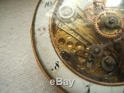 18k Gold Repeater Pocket Watch Fusse Movement Skelton As Is