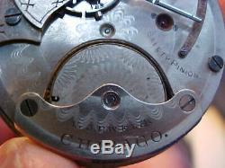 18s Chicago Watch Co LS HC pocket watch movement Columbus