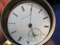 18s National Watch Co Elgin H Z Culver key wind pocket watch movement ticking