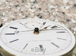 1900s Geneve N. M watch co repeater split second chronograph pocket movement