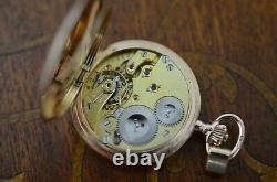 1908s IWC 14K solid gold LADIES pocket watch, cal. 64 movement lovely