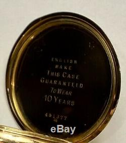 1913 Waltham Gold-Filled Hunter Pocket Watch 16S 7j Traveler Movement Keeps Time