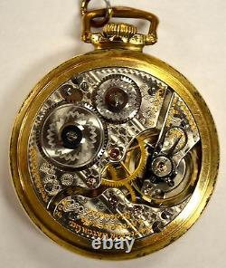 1914 Hamilton 21 Jewel 10k Gold-Filled Pocket Watch Montgomery Dial 992 Movement