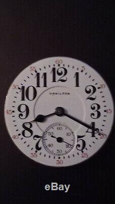 1919 Hamilton 16s 21j Double Sunk Pocket Watch Movement 992/2 Will Run Needs Rep