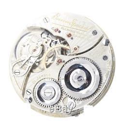 1923 Illinois 21 Ruby Jewel Bunn Speical RAILROAD Grade Pocket Watch Movement