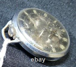 1939-40's Swiss Girard Perregaux & Co. Shell Special Skeleton pocket watch