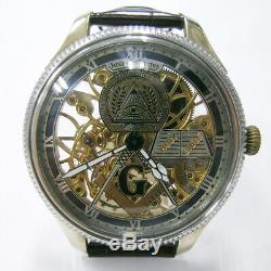 1940s Jaeger-LeCoultre Pocket watch movement custom watch Double-sided skeleton