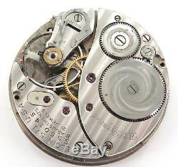 1952 Elgin B W Raymond 16s 21j 8 Adjusts Railroad Grade Pocket Watch Movement