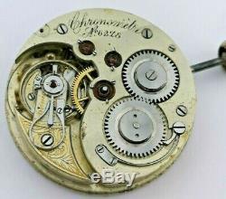 19th Century Swiss Detent Escapement Chronometer Pocket Watch Movement (R71)