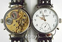 2 Engraved Wristwatch Cases Top Sapphire Crystals For Pocket Watch Movements