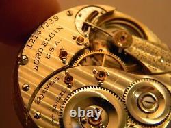 3 Star Rare 1906 Lord Elgin 23j 12s #194 M3 Pocket Watch Movement Runs Great