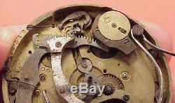 43MM #F 1/4 Repeater RAMSES 111 DEPOSE 31463 MOVEMENT Pocket Watch Partial Parts