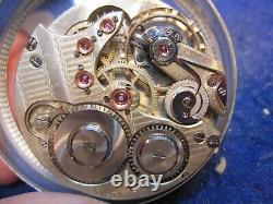 43mm Agassiz 21J OF pocket watch movement ticking