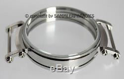 47,7mm STEEL Grade 316L POLISH CASE for pocket MOVEMENT 42-44mm JWC MOSER ELGIN