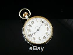 8 Day Large Pocket Watch with Unusual Type Movement, Maybe Hebdomas