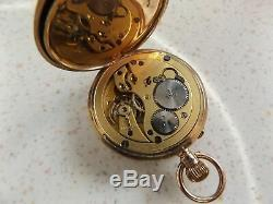 9ct Gold Stauffer Ladies Fob With Iwc Movement Pocket Watch