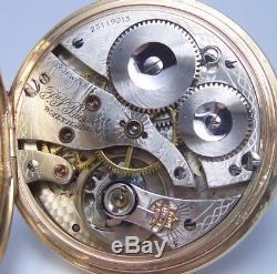 9ct gold Waltham pocket watch 17 jewel movement