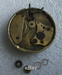 A. Lange & Sohne Glashütte Dresden pocket watch movement FOR PARTS/REPAIR