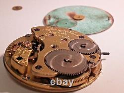 A Lange & Sohne Glashutte Dresden pocket watch movement for parts/repair, serial