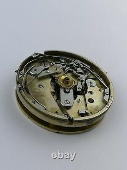 AH Arnold & FH Huguenin 30 Minute Recording Chronograph Pocket Watch Movement