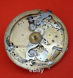 ANTIQUE MINUTTE REPEATER withCHRONOGRAPH POCKET WATCH MOVEMENT ONLY 1930
