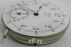Agassiz Geneva wolf tooth & snail reg. Adj. Pocket watch Movement for parts HC