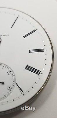 Agassiz Private Label Pocket Watch Movement 17j 12s good balance repair F1392