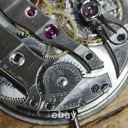 Agassiz Vintage Working Pocket Watch Movement, 17J, 5 Adj. High Grade (C171)