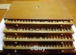 Ältere, gebrauchte kleine Holz Box Flume mit Aufzugswellen für AU, 30 % gef