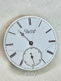Amazing High Grade Swiss Possible Patek Antique Pocket Watch Movement