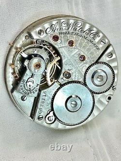 Amazing Large High Grade Amn Grade Waltham 1888 Antique Pocket Watch Movement