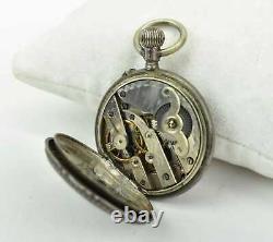 Antique 1800's Silver P&M Guivre Ladies Pendant Pocket Watch Swiss Movement
