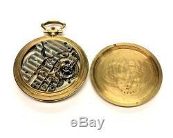 Antique 18K Solid Yellow Gold Grogan Co Pocket Watch IWC Swiss 15j Movement