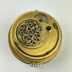 Antique 18th Century Verge Pocket Watch Movement John Peterkin London 4.7cm