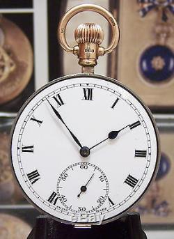 Antique 20's Rolex 17 Jewel Chronometer Pocket Watch Movement + Gold Fittings