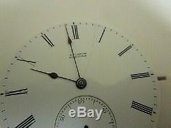 Antique A. Lange Dresden Pocket Watch Movement. Runs. Serial # 9345 44mm