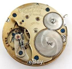 Antique A Lange & Sohne, Glashutte, Dresden Pocket Watch Movement & Dial