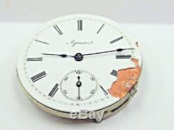 Antique Agassiz Pocket Watch Movement 29 mm in size. #20609